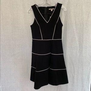 Banana Republic Black Dress w/ White Trim Size 2